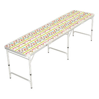 Psycho Easter Pattern colorful Pong Table