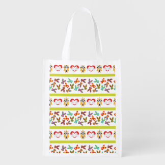 Psycho Easter Pattern colorful Reusable Grocery Bag
