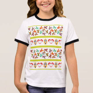 Psycho Easter Pattern colorful Ringer T-Shirt