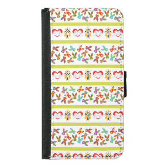 Psycho Easter Pattern colorful Samsung Galaxy S5 Wallet Case