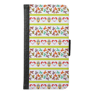 Psycho Easter Pattern colorful Samsung Galaxy S6 Wallet Case