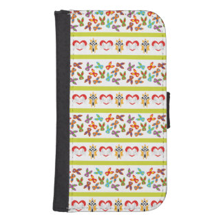 Psycho Easter Pattern colorful Samsung S4 Wallet Case