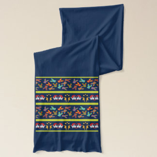 Psycho Easter Pattern colorful Scarf