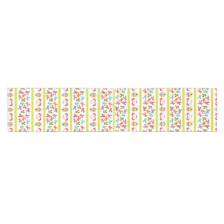 Psycho Easter Pattern colorful Short Table Runner