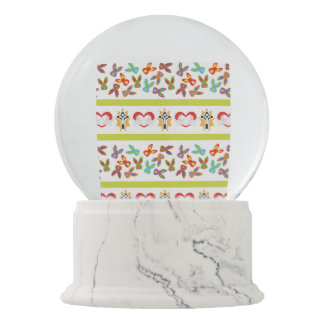 Psycho Easter Pattern colorful Snow Globe
