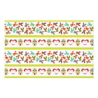 Psycho Easter Pattern colorful Stationery
