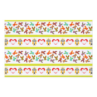 Psycho Easter Pattern colorful Stationery Paper