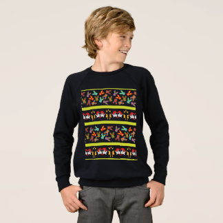 Psycho Easter Pattern colorful Sweatshirt