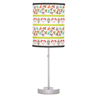 Psycho Easter Pattern colorful Table Lamp