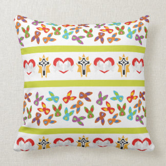 Psycho Easter Pattern colorful Throw Pillow