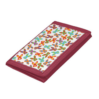 Psycho Easter Pattern colorful Trifold Wallets