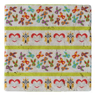 Psycho Easter Pattern colorful Trivet
