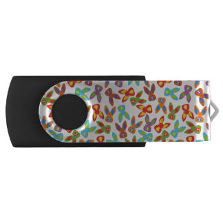 Psycho Easter Pattern colorful USB Flash Drive