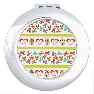 Psycho Easter Pattern colorful Vanity Mirror
