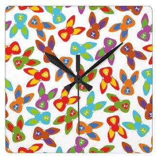 Psycho Easter Pattern colorful Wallclock