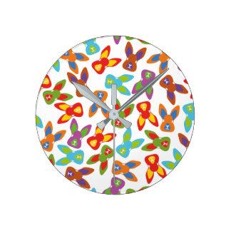 Psycho Easter Pattern colorful Wallclocks