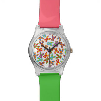Psycho Easter Pattern colorful Watch
