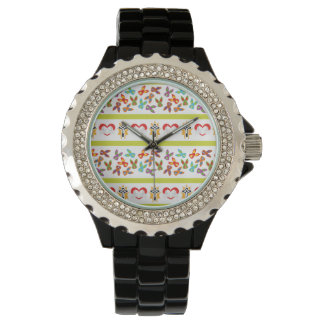 Psycho Easter Pattern colorful Watches