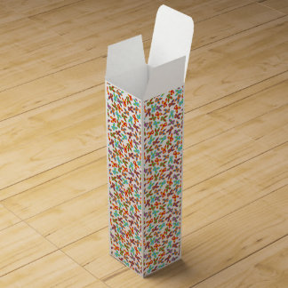 Psycho Easter Pattern colorful Wine Box