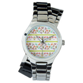Psycho Easter Pattern colorful Wrist Watch