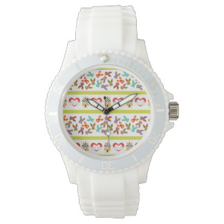 Psycho Easter Pattern colorful Wristwatch
