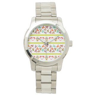 Psycho Easter Pattern colorful Wristwatches