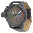 Psycho Gears Flame Fractal Art Watch