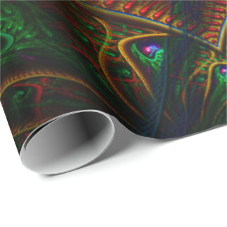 Psycho Gears Flame Fractal Art Wrapping Paper