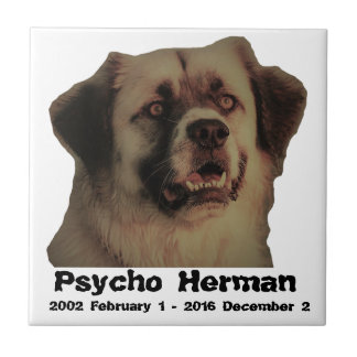 Psycho Herman memorial ceramic tile