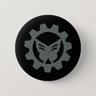 Psycho Pop Playhouse Logo Button Black