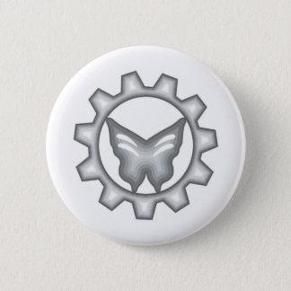 Psycho Pop Playhouse Logo Button White