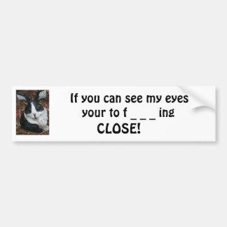 Psycho Rabbit Bumper Sticker