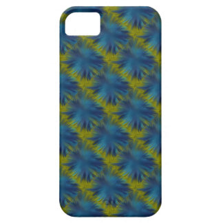 Psycho Rainbow Stars in blue green Retro ArtDeco Case For The iPhone 5