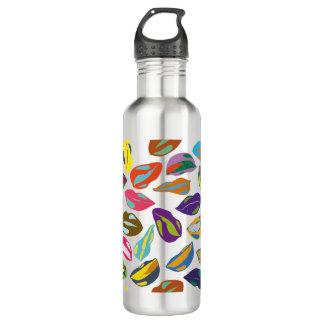 Psycho retro colorful pattern Lips 710 Ml Water Bottle