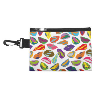 Psycho retro colorful pattern Lips Accessory Bag