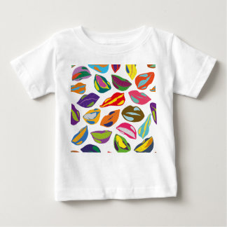 Psycho retro colorful pattern Lips Baby T-Shirt