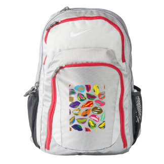 Psycho retro colorful pattern Lips Backpack