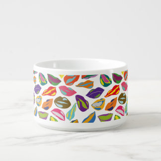 Psycho retro colorful pattern Lips Bowl