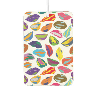 Psycho retro colorful pattern Lips Car Air Freshener