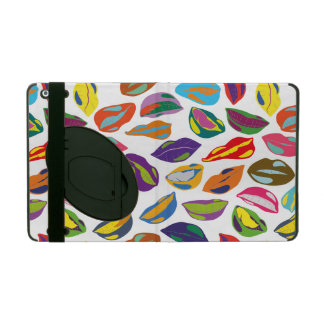 Psycho retro colorful pattern Lips Case For iPad