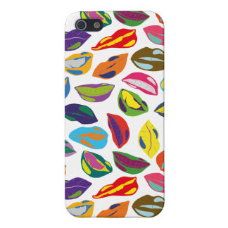 Psycho retro colorful pattern Lips Case For The iPhone 5