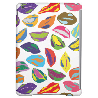 Psycho retro colorful pattern Lips Cover For iPad Air