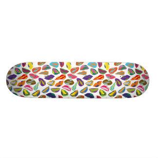Psycho retro colorful pattern Lips Custom Skateboard