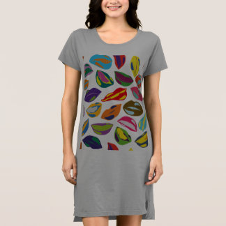 Psycho retro colorful pattern Lips Dress
