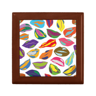 Psycho retro colorful pattern Lips Gift Box