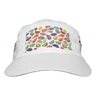Psycho retro colorful pattern Lips Headsweats Hat