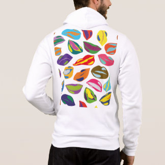 Psycho retro colorful pattern Lips Hoodie