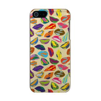 Psycho retro colorful pattern Lips Incipio Feather® Shine iPhone 5 Case