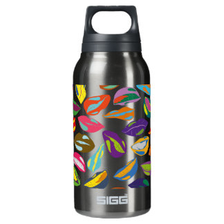 Psycho retro colorful pattern Lips Insulated Water Bottle