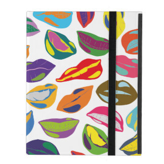 Psycho retro colorful pattern Lips iPad Cover